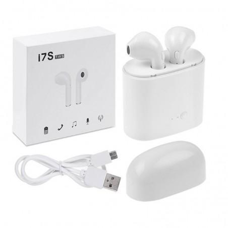 Oreillettes Sans Fil Bluetooth I7S TWS- Blanc