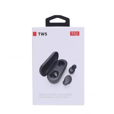 Ecouteurs Sans Fil Bluetooth T02 TWS- Noir